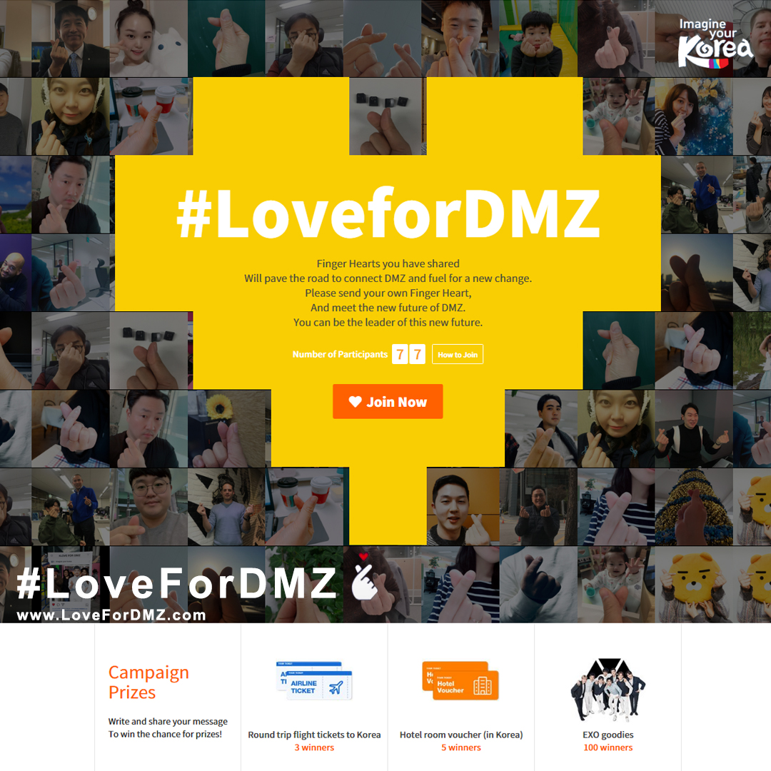 Kampanye Global #LoveforDMZ dan Hadiah ke Korea Gratis