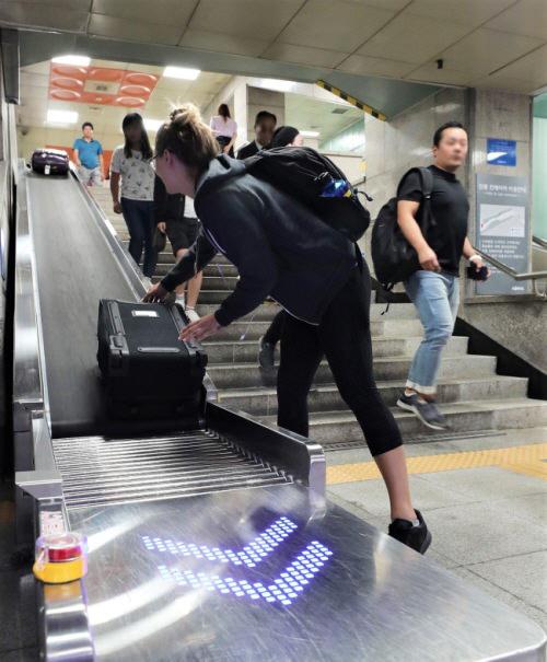 Sabuk Konveyor untuk Koper Telah Dipasang di Stasiun Seoul