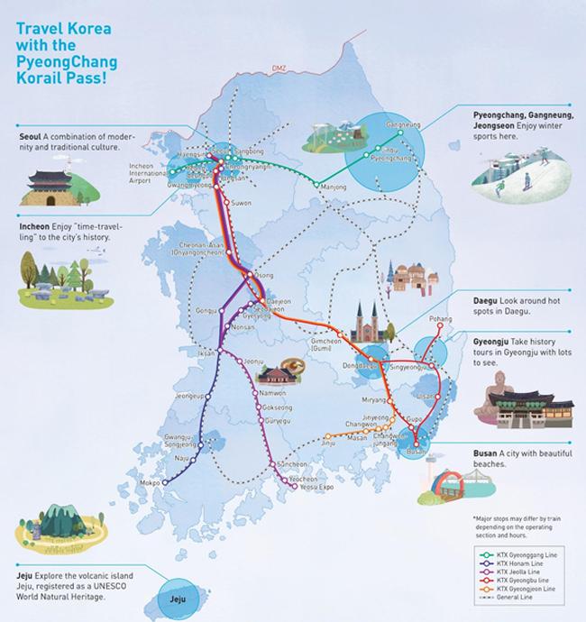 Kartu Terusan PyeongChang Korail Pass Eksklusif untuk Wisatawan Asing Mulai Dijual 10 Oktober 2017