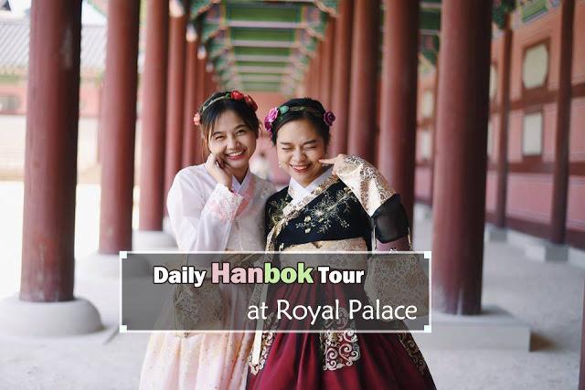Mengunakan Hanbok di Istana Kerajaan - Pengalaman Unik di Korea