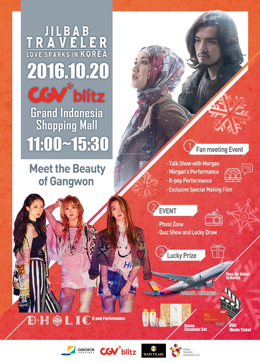Fan Meeting dengan Aktor Film 'Jilbab Traveler: Love Spark in Korea'