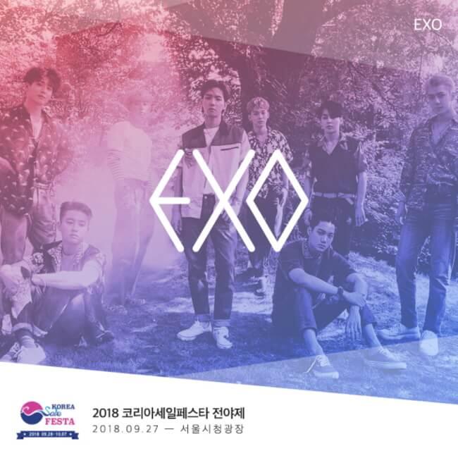 Konser Korea Sale Festa 2018 akan Menampilkan EXO dan Red Velvet