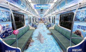 Subway Busan Membawa Penumpang ke Bawah Laut