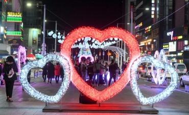 Menikmati Malam yang Romantis di Festival Cahaya Rockgo Haeundae