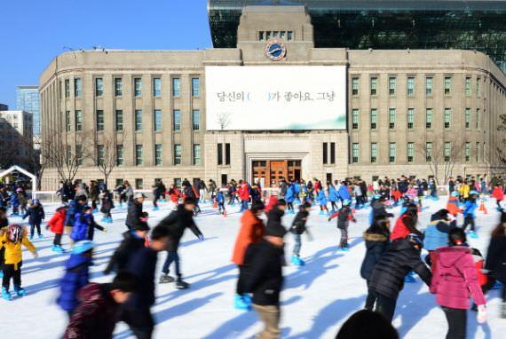 Gelanggang Ice Skating di Seoul Plaza Dibuka 22 Desember
