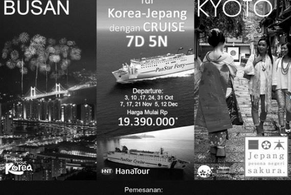 Kini Hadir Wisata Kapal Pesiar Korea - Jepang