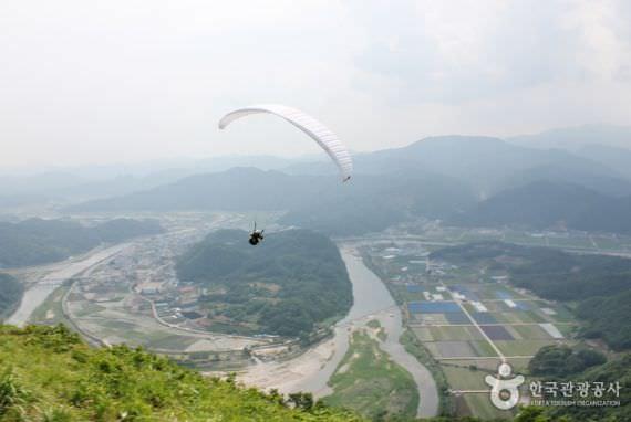 Landasan Paralayang di Gunung Jangamsan