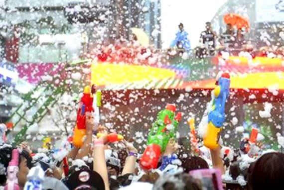Festival Perang Air yang Diselenggarakan di Seoul dan Busan