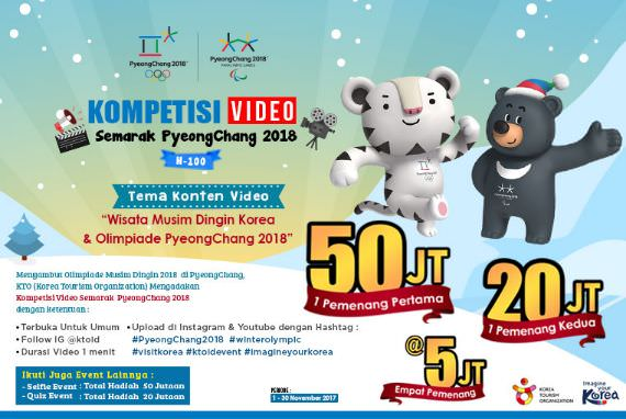 EVENT - [H-100] Kompetisi Video Semarak PyeongChang   2018