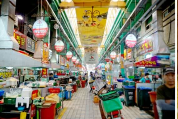Andong Jjim-dak Alley di Pasar Tradisional Andong