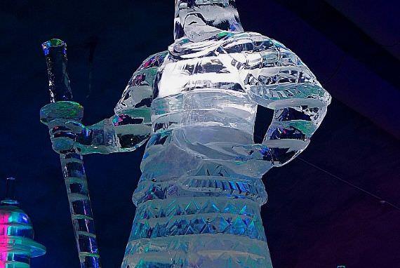 Kompetisi Ice Carving di Korea Spring & Summer Festival