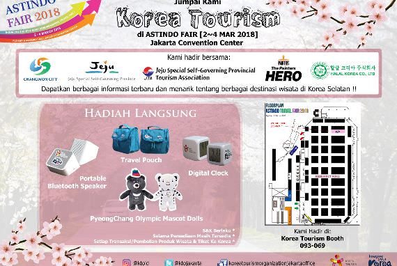 Korea Tourism Organization Hadir di Astindo Travel Fair 2018