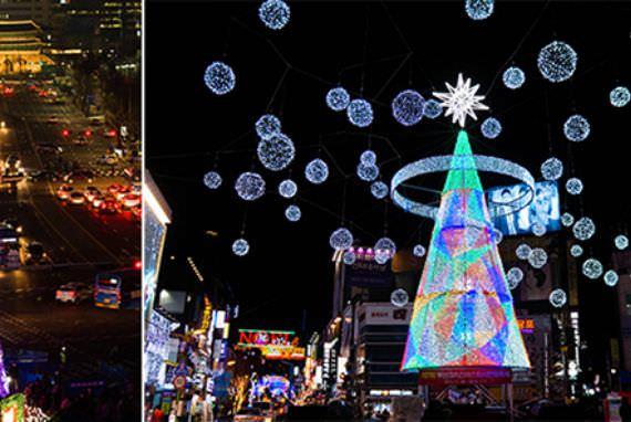 Pohon-Pohon Natal di Seoul dan Busan