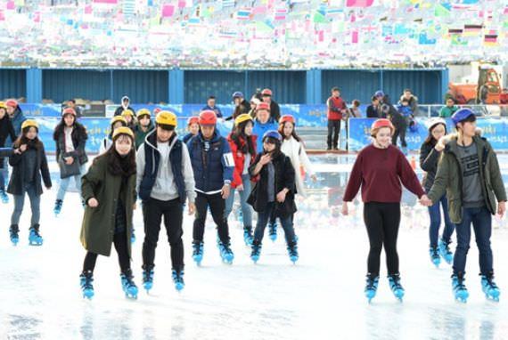 Arena Skating Internasional di Pantai Haeundae