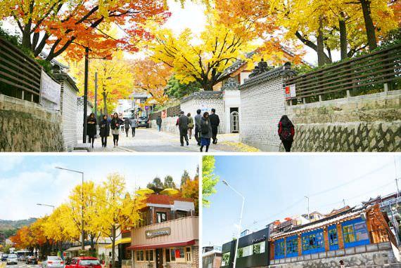 Budaya berjalan di sepanjang jalan Samcheong-dong