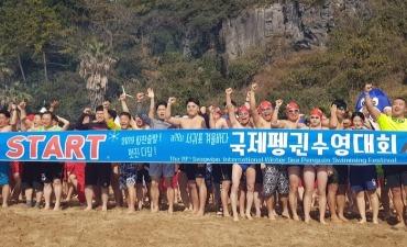 Festival Renang Penguin Seogwipo (서귀포 겨울바다펭귄수영대회)