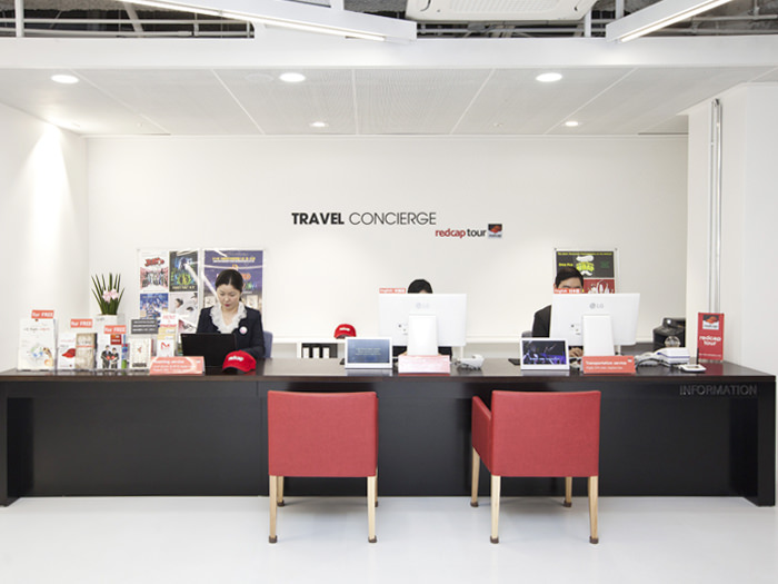 Travel Service Center (Red Cap Tour) sells customized Korean tour products for FIT tourists.